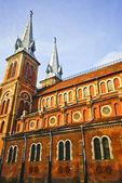 кафедральный собор в городе хошимин, вьетнам — Стоковое фото