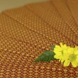 Thailand fabric spa massage with yellow flower — Stok fotoğraf