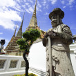 Statue of Man at Wat Pho in Bangkok Thailand — Stock Photo #26416625