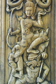 Thailand Carving wood craft — Zdjęcie stockowe