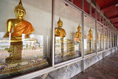Buddha images in the Wat Pho temple, Bangkok, Thailand — Stock Photo