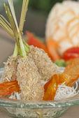 Delicious tempura (deep fried prawn), shallow depth of field — Stockfoto
