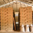 Coffee beans warehouse — Stock Photo