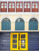 Mezclar windows vintage asia — Foto de Stock