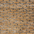 Background of orange brick wall texture — Stock Photo