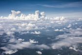 Blue perfect sky mountain of clouds from high altitude — Stock Photo