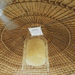 A ceiling made of wood & bamboo of the hill tribe in China — 图库照片