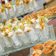 Stock Photo: Sweet desserts waiting for restaurants guests