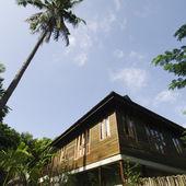 Azjatycki styl drewniany dom — Zdjęcie stockowe