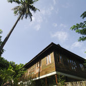 Wooden house asian style — Stock fotografie