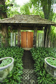 Entrance of a typical residential house Thailand — Stock Photo