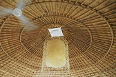 A ceiling made of wood & bamboo of the hill tribe in China — Stock Photo