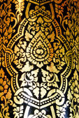 Traditional Thai fine art on a window and door pattern Temple Ch — Stock Photo