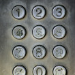Close up image of a public pay phone keypad — Stock Photo