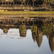Reflect Angkor wat on water, Cambodia, Siem Reap — Stock Photo