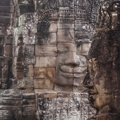 Bayon face Angkor Thom, Siem Reap, Cambodia. — Stock Photo