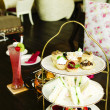 Afternoon british high tea — Stock Photo