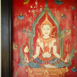 Thailand drawing on temple door — Stock fotografie