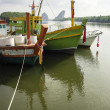 Krabi port with boat — Stock Photo