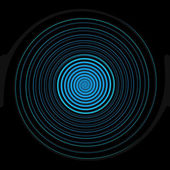 Abstract blue circle on black background — Stock Photo