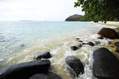 Andaman beach with rock and wave — Stock Photo