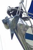 Ancla en cabeza del barco — Foto de Stock