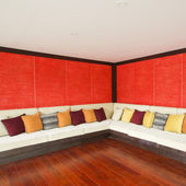 Woonkamer aziatische moderne stijl — Stockfoto