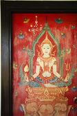 таиланд, опираясь на двери храма — Стоковое фото