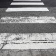 Stock Photo: Crosswalk on road
