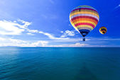 Hot air balloon on Sea and island. Samui Thailand — Stock Photo