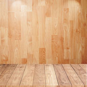 Wood background with wood floor — Stock Photo