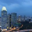 Singapore cityspace on evening twilight sky — Photo #30436423