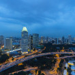 Singapore cityspace on evening twilight sky — Stock Photo