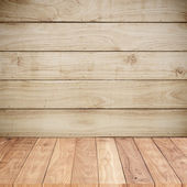 Wood background wall with wood floors — Stock Photo