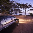 Stock Photo: Car with sunset viewpoint