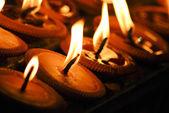Kerze in der dunkelheit — Stockfoto