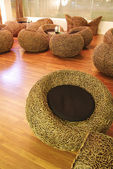 Chaises de bambou — Photo