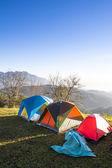 Mirador de invierno en la montaña del norte de chiang mai, tailandia — Foto de Stock