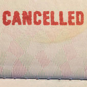 Passport Stamp Cancelled — Stock Photo