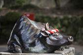 Statue front of Dazaifu Tenmangu Shrine — Stock Photo