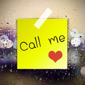 Call me with water drops background with copy space — Stock Photo