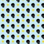 Skull rock star pattern background. vector. eps10 — Stock Vector #42895291