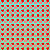 Heart love background. — Stock Vector