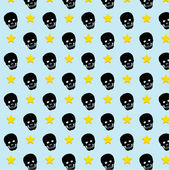 Skull rock star pattern background. vector. eps10 — Vector de stock