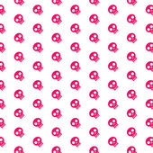 Pink skull patterns on white background — Stock Vector