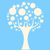 Concept tree on blue background — Stock Vector