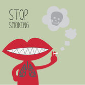 Stop smoking. eps10 — Stock Vector