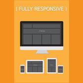 Fully Responsive Design. EPS10 — Stock Vector