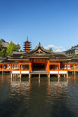 Itsukushima Shrine famous place at Miyajima. Hiroshima. Japan — Stock Photo