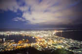 Hakodate viewpoint best top 3 nightview in Japan. Hakodate. Japa — Stock Photo